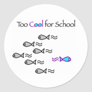 Too Cool for School - Fish Stickers