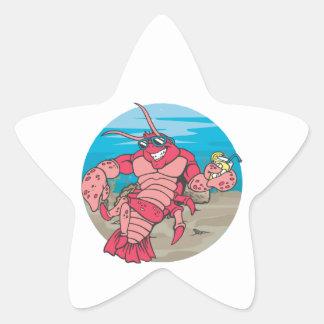 Too Cool Lobster Star Sticker