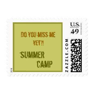 Too Cool Summer Camp Stamp Letter