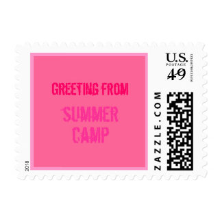 Too Cool Summer Camp Stamp - PINK