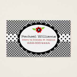 Too Cute Black & White Custom Mommy Card