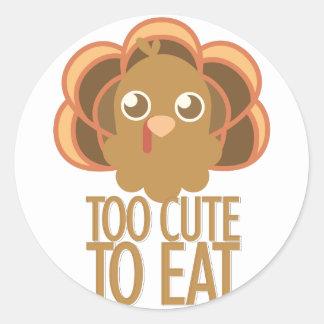 Too Cute Classic Round Sticker