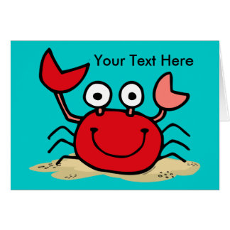 Too Cute Crab Custom Card