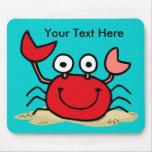 Too Cute Crab Custom Mousepad