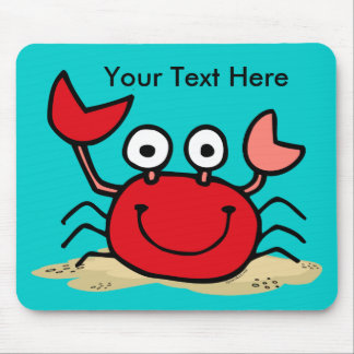 Too Cute Crab Custom Mousepad