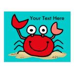 Too Cute Crab Custom Postcard