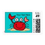 Too Cute Crab Custom Stamp