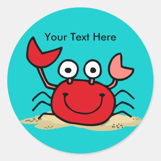 Too Cute Crab Custom Sticker