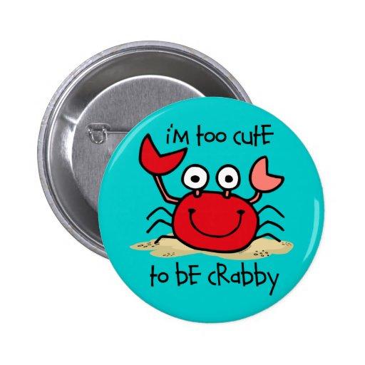 Too Cute Crab Pin