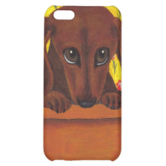 Too Cute Dachshund I Cover For iPhone 5C