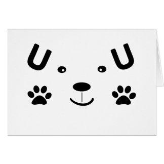 Too Cute Dog Card
