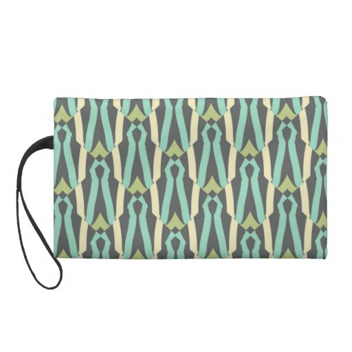 too cute for green and gray wristlet clutches