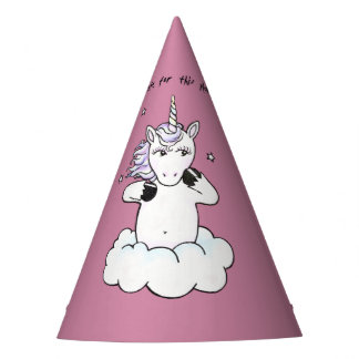 Too cute for this planet (Unicorn) Party Hat
