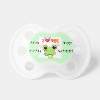 Too cute for words pacifier