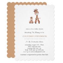 Too Cute Giraffe Baby Shower Invitation