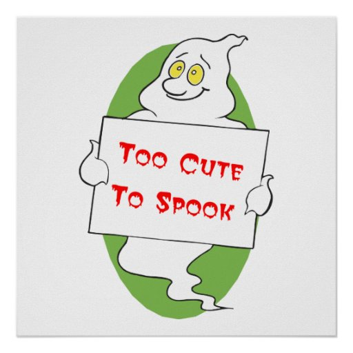 Too Cute Halloween Poster