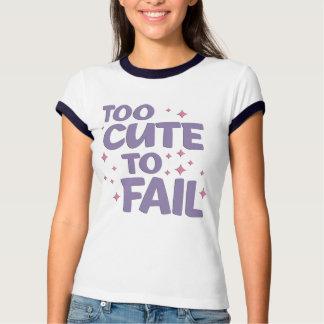 Too Cute Ladies Ringer Shirt
