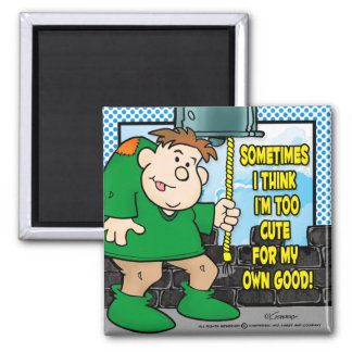 Too Cute 2 Inch Square Magnet