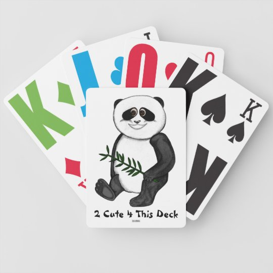 Too Cute Panda Bear Bicycle Playing Cards