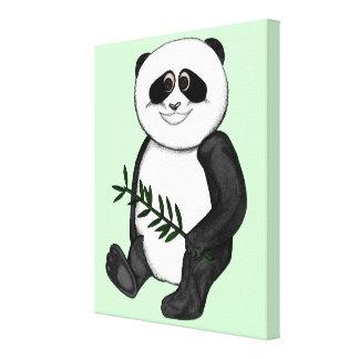 Too Cute Panda Bear Canvas Print