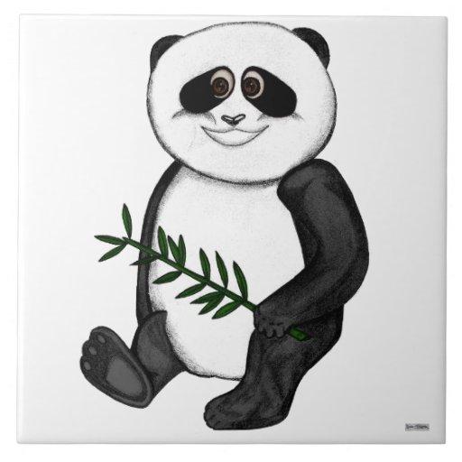 Too Cute Panda Bear Ceramic Tile