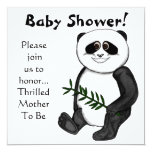 Too Cute Panda Bear 5.25x5.25 Square Paper Invitation Card