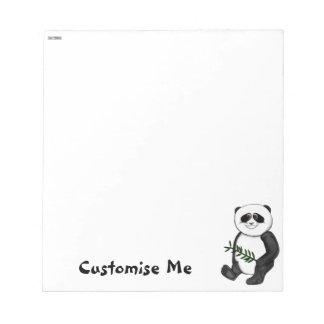 Too Cute Panda Bear Notepad