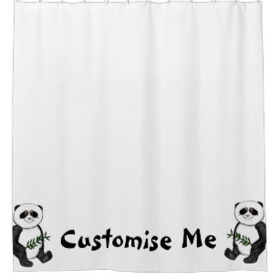 Too Cute Panda Bear Shower Curtain