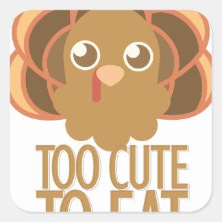 Too Cute Square Sticker