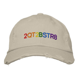 Too cute to be straight embroidered baseball hat