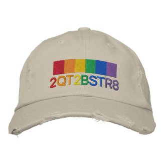 Too Cute To Be Straight Gay Pride Rainbow Embroidered Baseball Cap