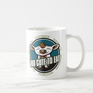 Too Cute To Eat Cow Coffee Mug