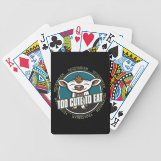 Too Cute To Eat Cow Bicycle Poker Deck