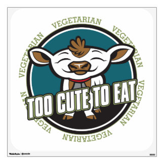 Too Cute To Eat Cow Wall Sticker