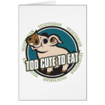 Too Cute to Eat Pig Greeting Card