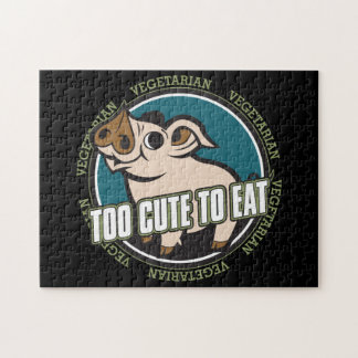 Too Cute to Eat Pig Jigsaw Puzzles