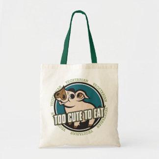 Too Cute to Eat Pig Tote Bag