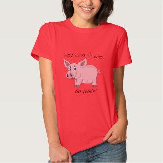 Too Cute To Eat Pig Tshirt