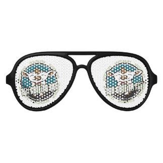 Too Cute to Eat Sheep Aviator Sunglasses