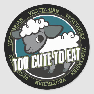 Too Cute to Eat Sheep Classic Round Sticker