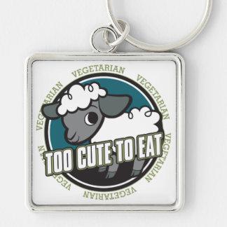 Too Cute to Eat Sheep Keychain