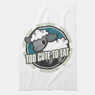 Too Cute to Eat Sheep Kitchen Towel