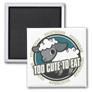 Too Cute to Eat Sheep Magnet
