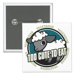 Too Cute to Eat Sheep Pinback Button
