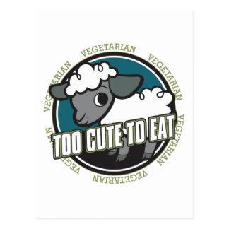 Too Cute to Eat Sheep Postcard