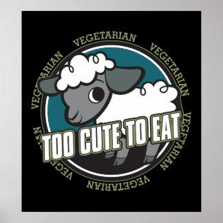 Too Cute to Eat Sheep Poster