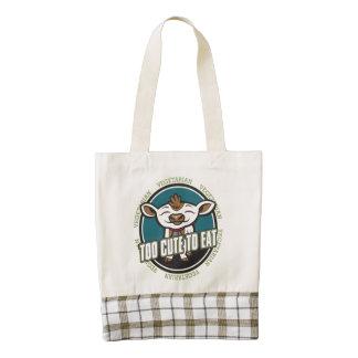 Too Cute to Eat Sheep Zazzle HEART Tote Bag