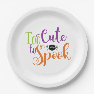 """Too Cute To Spook - 9"""" Round Paper Plate"""