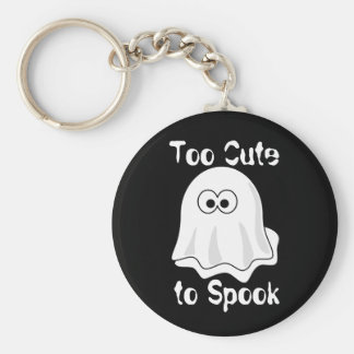 """""""Too Cute to Spook"""" Basic Round Button Keychain"""