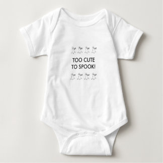 Too Cute To Spook Halloween Boo! Ghosts Baby Bodysuit